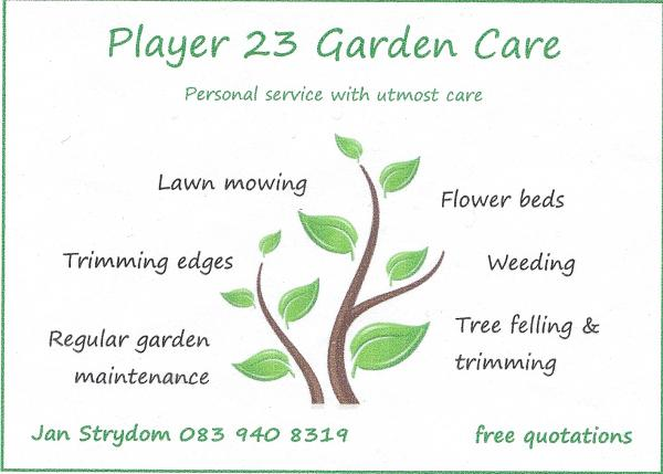 Teachings and info cape town kingdom warriors for Gardening services